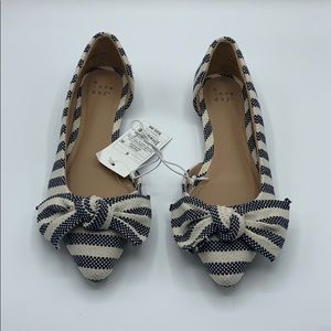 A New Day cute navy blue and white flats size 6